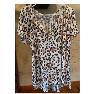 Show Me Your MuMu Animal Print Blouse. Size XS